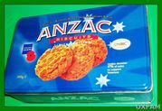 ANZAC Biscuit Tin Blue in colour
