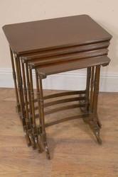 Edwardian Mahogany Antique Nest Tables Side Table