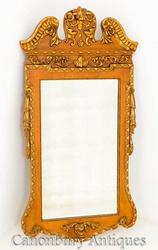 George I Walnut Gilt Hall Pier Mirror