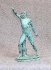 Greek Athlete Bronze Statue - Classical Sculpture Casting