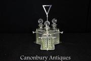 Shop Bohemian Silver Plate Glass Decanter Set Online